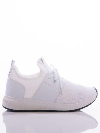 Buty sportowe na białej sprężystej podeszwie białe