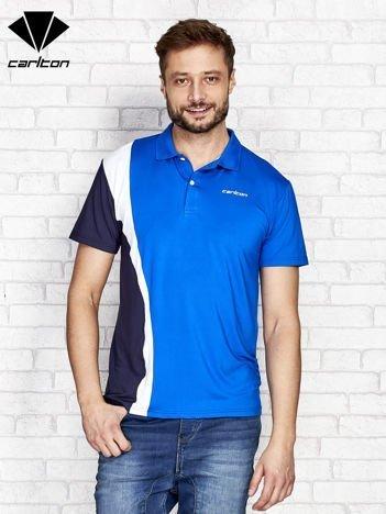 CARLTON Niebieska koszulka polo męska