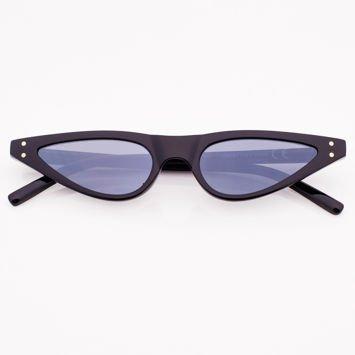 CAT EYE Czarne damskie okulary przeciwsłoneczne KOCIE OCZY