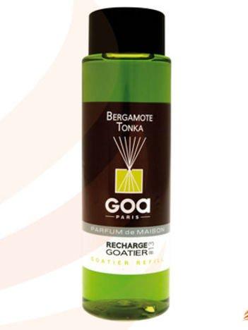 CLEM-GOA Zapas do dyfuzora zapachowego  250 ml - Bergamotka z tonką