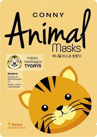 CONNY Animal Mask TYGRYS nawilżająca w płachcie