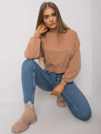 Camelowa bluza damska z bawełny Elain
