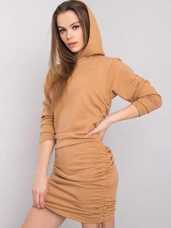 Camelowa sukienka Noelle RUE PARIS