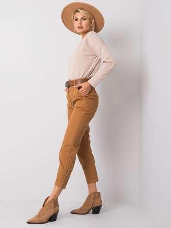 Camelowe spodnie Lenny
