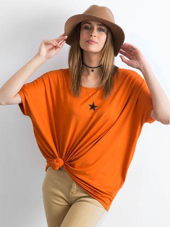 Ceglasta bluzka Oversize