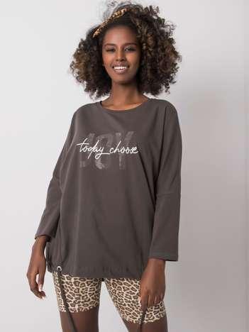 Ciemna khaki bluzka Imani