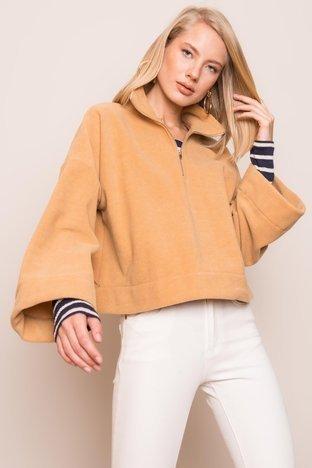 Ciemnobeżowa bluza damska BSL