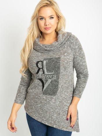 Ciemnobeżowa bluzka plus size Rave