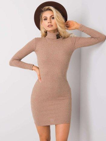Ciemnobeżowa sukienka Lara RUE PARIS