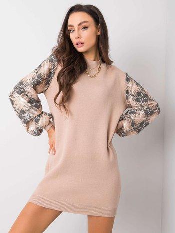 Ciemnobeżowa sukienka Leah