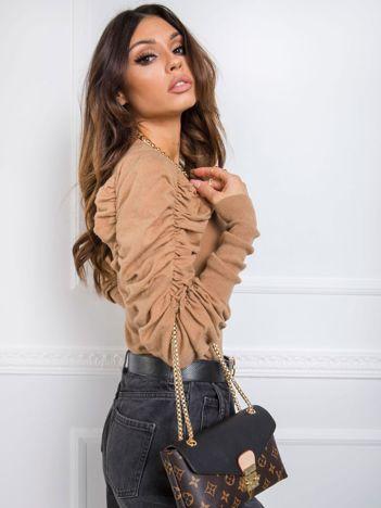 Ciemnobeżowy sweter Balladine