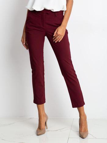Ciemnobordowe spodnie Classy
