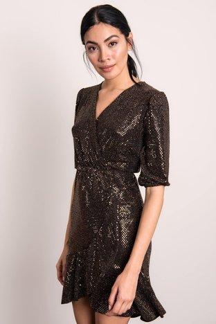 Ciemnobrązowa sukienka BSL