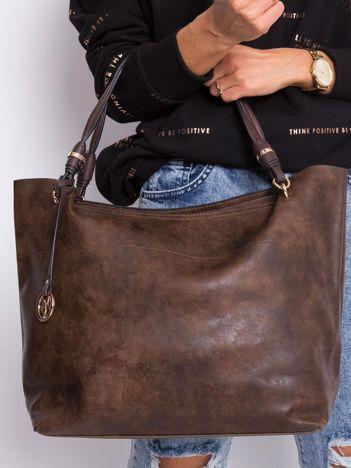 Ciemnobrązowa torba shopper