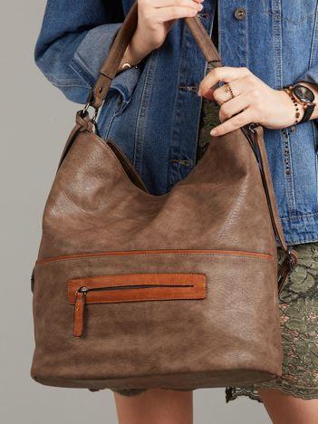 Ciemnobrązowa torba ze skóry ekologicznej