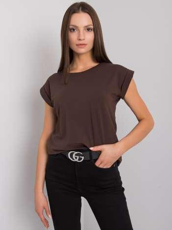 Ciemnobrązowy t-shirt Revolution