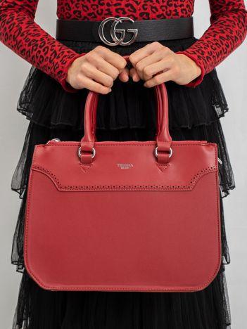 Ciemnoczerwona damska torba z ekoskóry
