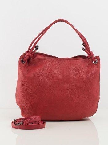 Ciemnoczerwona duża torba