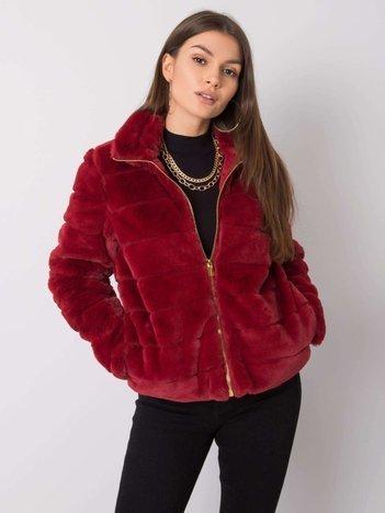 Ciemnoczerwona kurtka futro Kirah SUBLEVEL