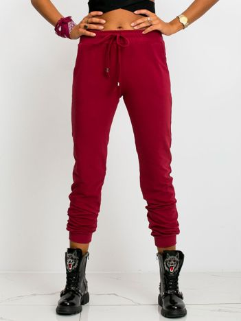 Ciemnoczerwone spodnie Faster