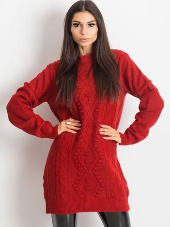 Ciemnoczerwony sweter Moment