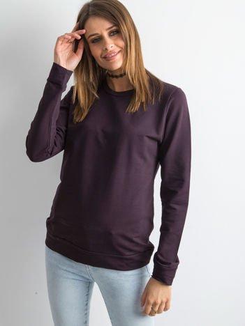 Ciemnofioletowa bluza damska basic