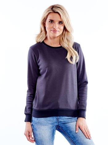 Ciemnografitowa bluza basic