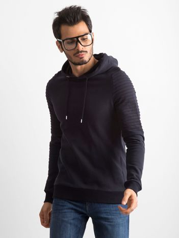 Ciemnogranatowa bawełniana bluza męska