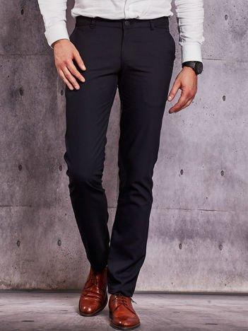Ciemnogranatowe spodnie męskie straight