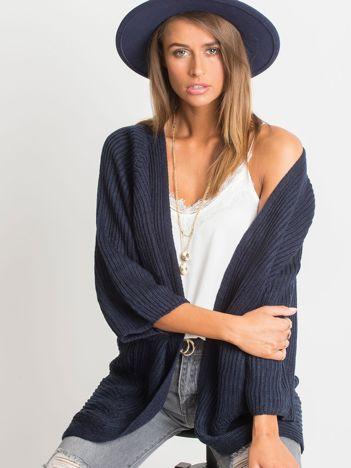 Ciemnogranatowy sweter Spotlight