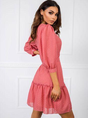 Ciemnokoralowa sukienka Flavia