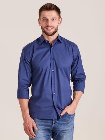 Ciemnoniebieska koszula męska regular