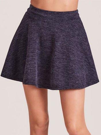 Ciemnoniebieska rozkloszowana spódnica
