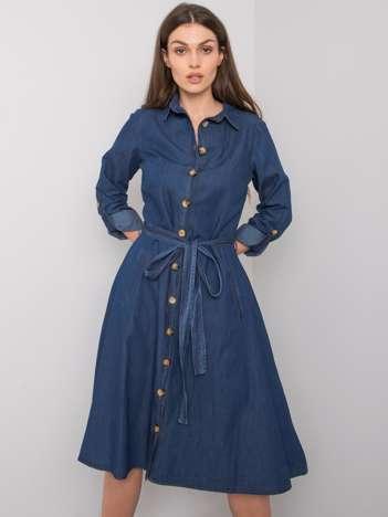 Ciemnoniebieska sukienka Azul RUE PARIS