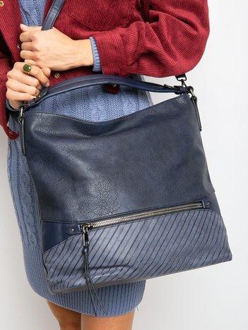 Ciemnoniebieska torba na ramię