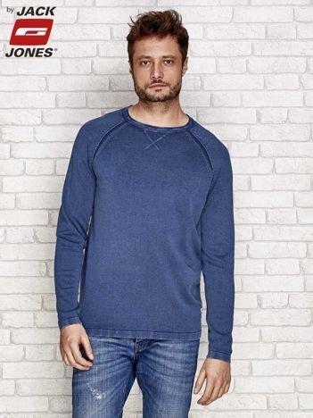 Ciemnoniebieski sweter męski