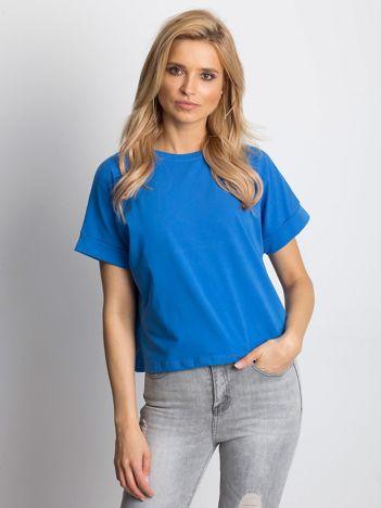 Ciemnoniebieski t-shirt Woodland