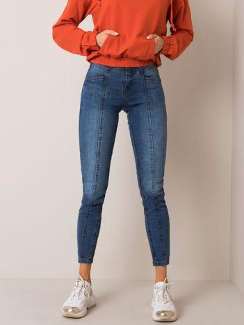 Ciemnoniebieskie jeansy Lora SUBLEVEL