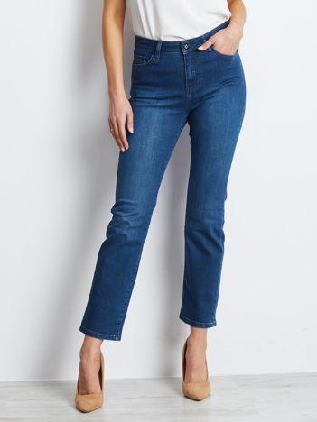 Ciemnoniebieskie jeansy Straight