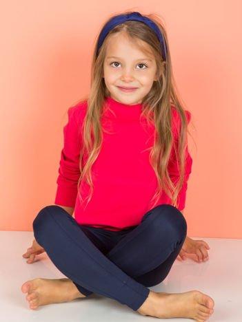 Ciemnoróżowa gładka bluza dziecięca