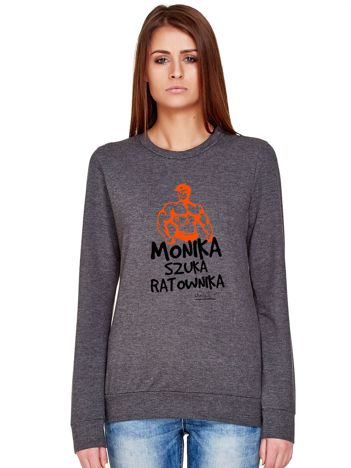Ciemnoszara bluza damska MONIKA SZUKA RATOWNIKA by Markus P