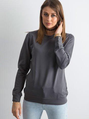 Ciemnoszara bluza damska basic