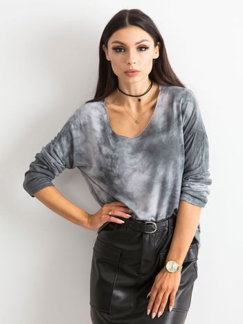 Ciemnoszara bluzka damska z długim rękawem