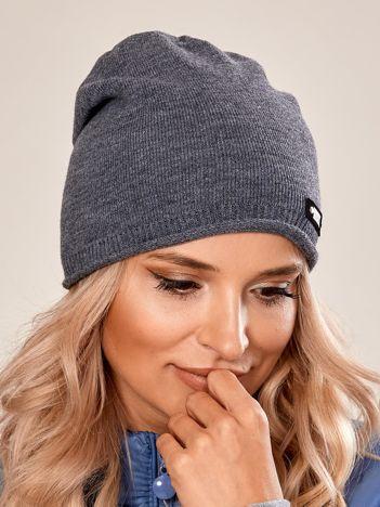 Ciemnoszara damska czapka beanie