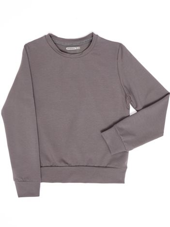 Ciemnoszara gładka bluza dziecięca