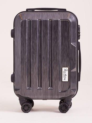 Ciemnoszara mała walizka twarda