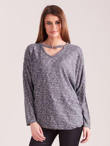 Ciemnoszara melanżowa bluzka oversize