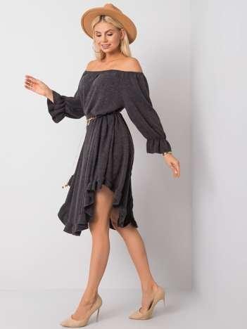 Ciemnoszara sukienka Twixy OCH BELLA