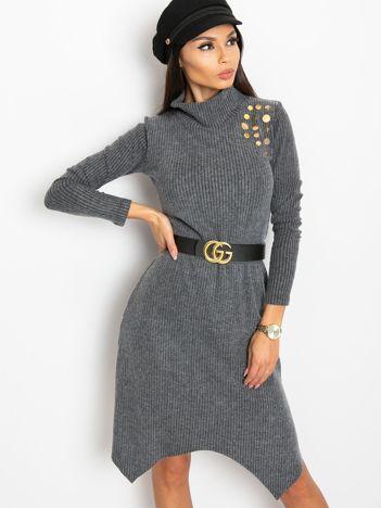 Ciemnoszara sukienka Una