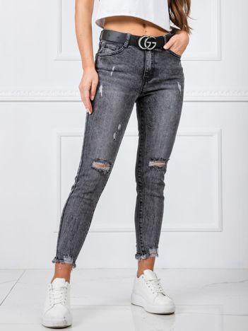 Ciemnoszare jeansy Parker